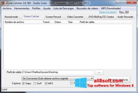 截图 aTube Catcher Windows 8