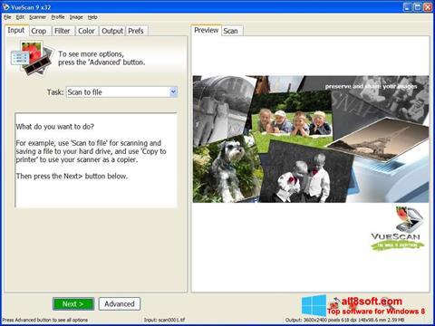 截图 VueScan Windows 8