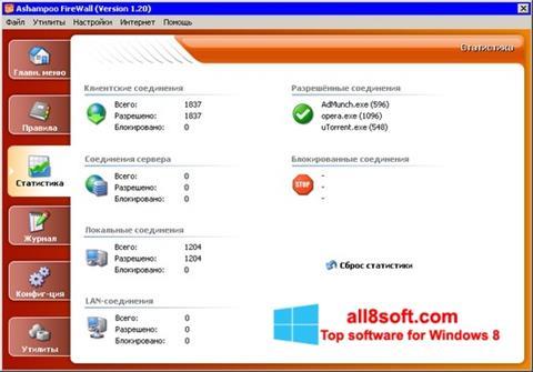 截图 Ashampoo Firewall Windows 8