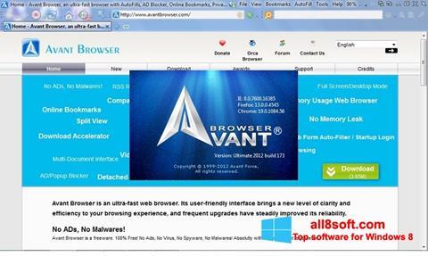 截图 Avant Browser Windows 8