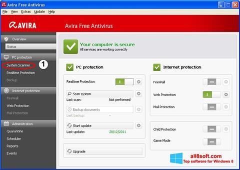 截图 Avira Windows 8